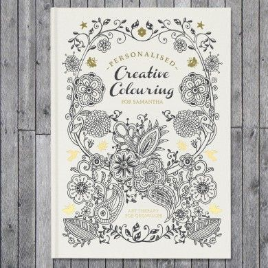 Creative Colouring Personalised - Hardback
