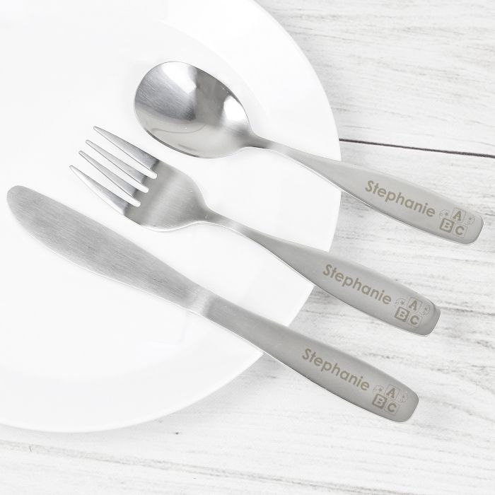 Personalised ABC Cutlery Set