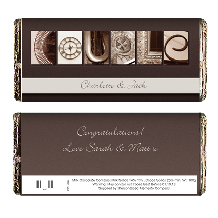 Personalised Affection Art Couple Chocolate Bar