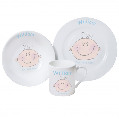 Personalised Baby Boy Breakfast Set