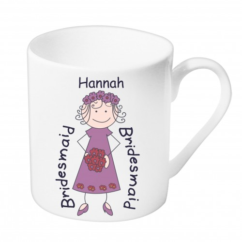 Personalised Bridesmaid Balmoral Mug.