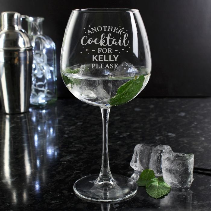 Personalised Cocktail Balloon Glass