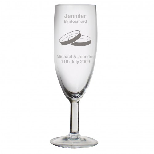 Personalised Designer Champagne Flute-Rings