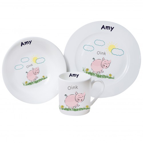 Personalised Pig Breakfast Set