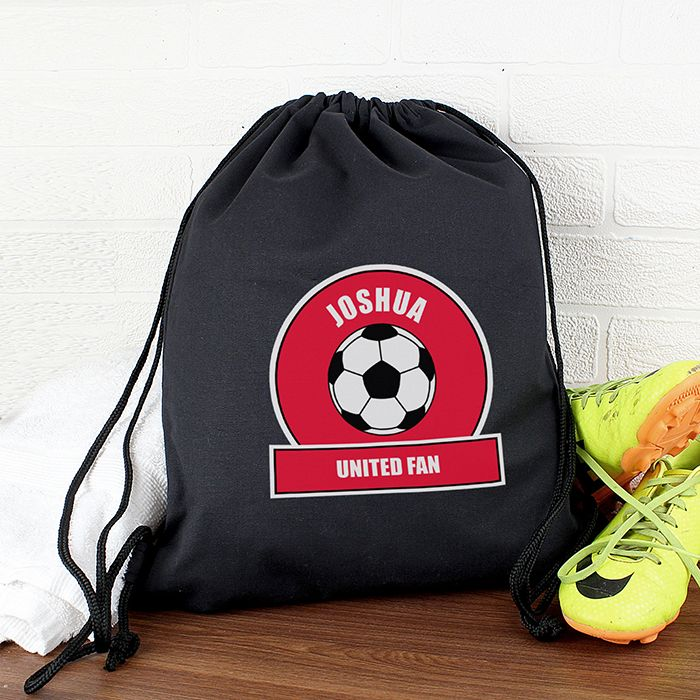 Personalised Red Football Fan Kit Bag