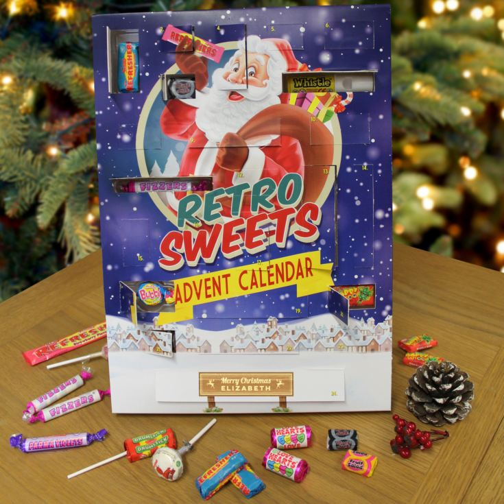 Personalised Retro Sweet Advent Calendar