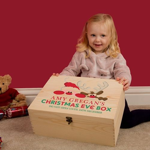 Personalised Santa and Rudolph Christmas Eve Box