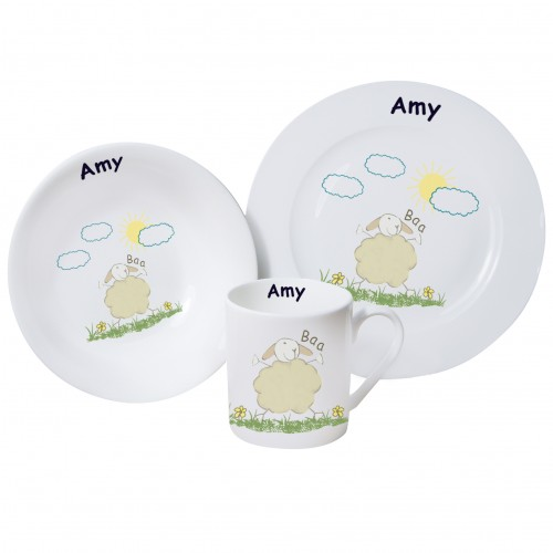 Personalised Sheep Breakfast set