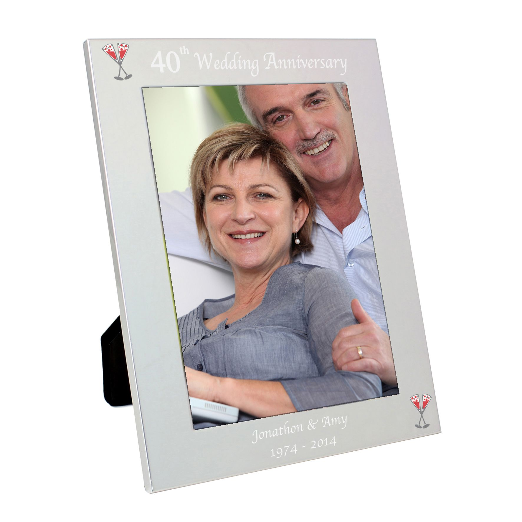 Personalised Silver 5x7 25th Wedding Anniversary Frame
