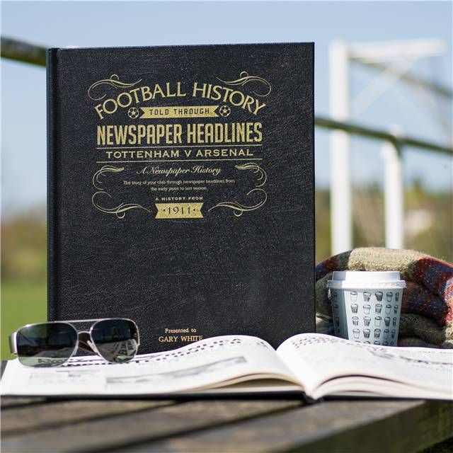 Personalised Spurs Vs Arsenal North London Derby Football Book